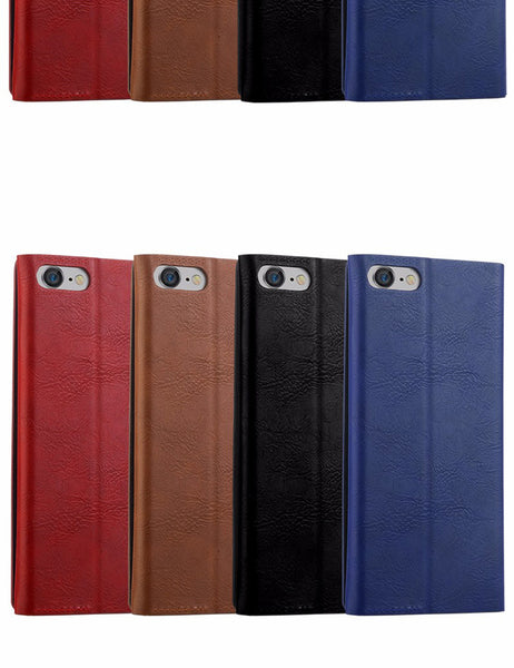 iPhone 7, 7 Plus Luxury Premium PU Leather Kickstand Card Slot Diary Wallet Flip Cover