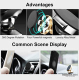 Magnetic Car Phone Holder Stand for iPhone & Samsung S8 GPS Bracket Phone Stand