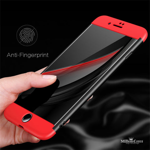 360 Full Protection 3 in 1 Hard PC Case for iPhone 8, 8 Plus