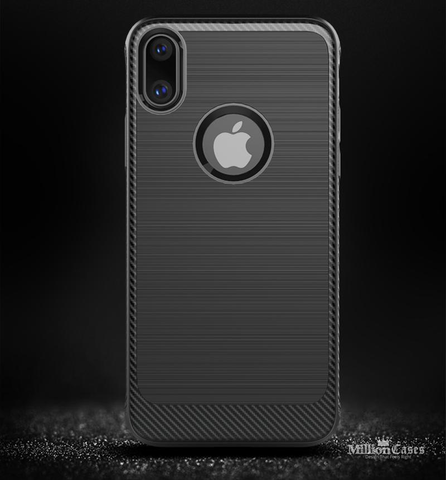 Thin Matte Carbon Fiber Case for Apple iPhone X