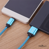 Nylon Braided USB Charging Cable for iPhone, iPad