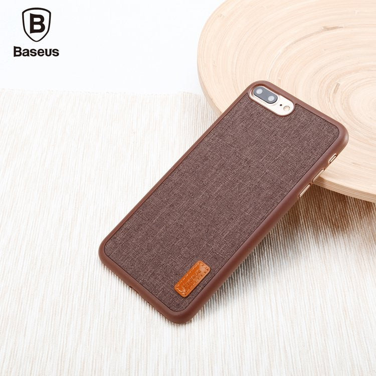 iPhone 7, 7 Plus Simple Stylish Grain Design Back Case