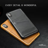 Apple iPhone X 100% Genuine Leather Protective Card Slots Cover