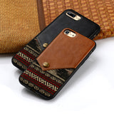 Original iPhone 7 Trendy PU Leather Coated TPU Case Cover