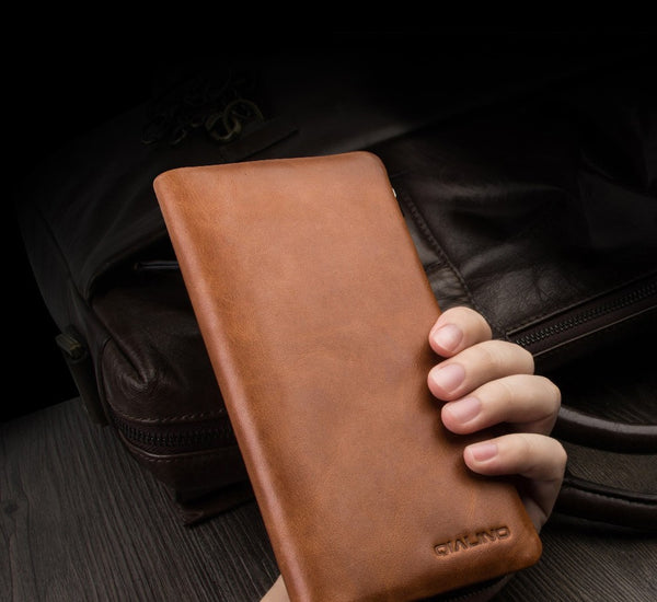 New Holster Luxury Handmade Genuine Leather Wallet Case for iPhone 7, iPhone 7 Plus
