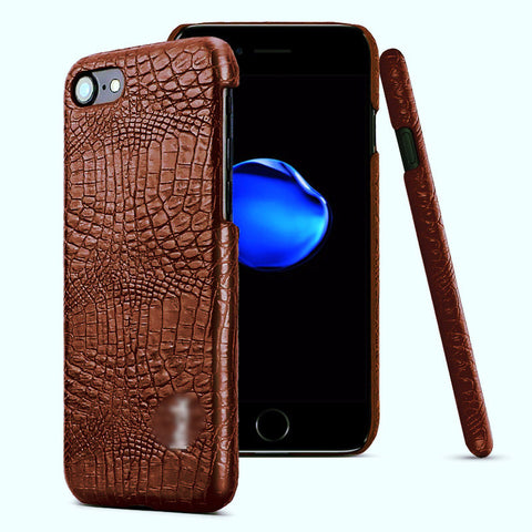 iPhone 7 Crocodile PU Leather Case