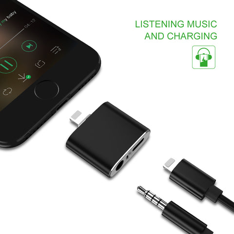 2 in 1 Charging and Audio Adapter with 3.5mm Jack [Best Selling Product]