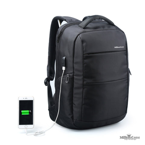 External Charging USB Function Laptop Backpack