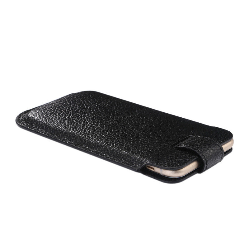 Luxury Genuine Leather Iphone 6 6 Plus 6s 6s Plus Pouch With Litchi