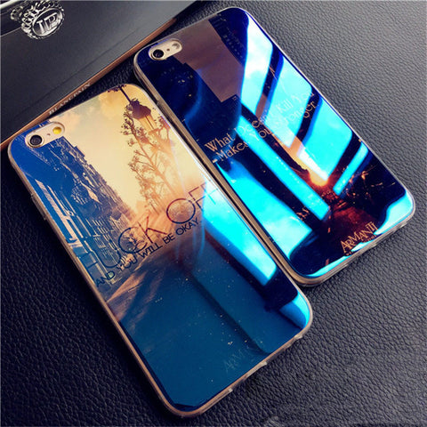 Luxury Soft Slim TPU Case For iPhone 6 Cover Fashion Blue-ray Silicone Back Carcasas For Apple iPhone 6S Case Phone Shell Capas