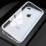 Tempered Glass Magnetic Adsorption Case for iPhone 7/8, 7/8 Plus