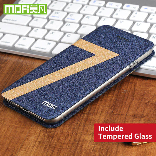 iPhone 7,7 Plus Mofi Water Cube Design Fit All-Around Shock Resistant Leather with Tempered glass