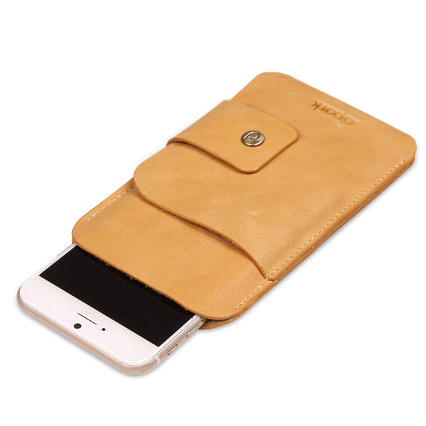 New Stylish Genuine Lambskin Leather iPhone Pouch Cover for iPhone 6/6 Plus