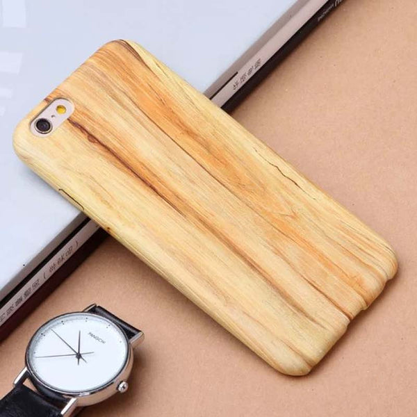 New Luxury Wood Grain Wooden Pattern Cover Apple iPhone 6/6 Plus
