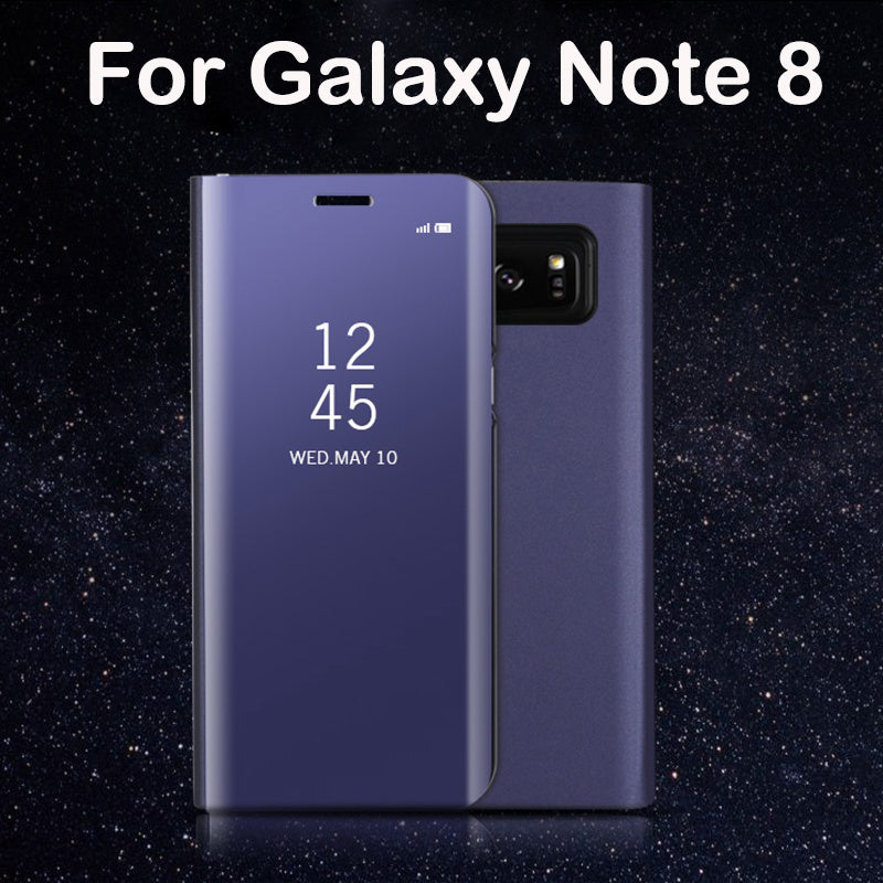 new product 0ed09 070df Original Electroplated Leather Flip Cover for Samsung Galaxy Note 8