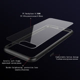Luxury Slim Original iPhone 7, 7 Plus Silicone Frame Transparent Backplane Cover Case