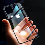 Luxury Soft TPU Laser Plating Transparent Case for iPhone 11 Series