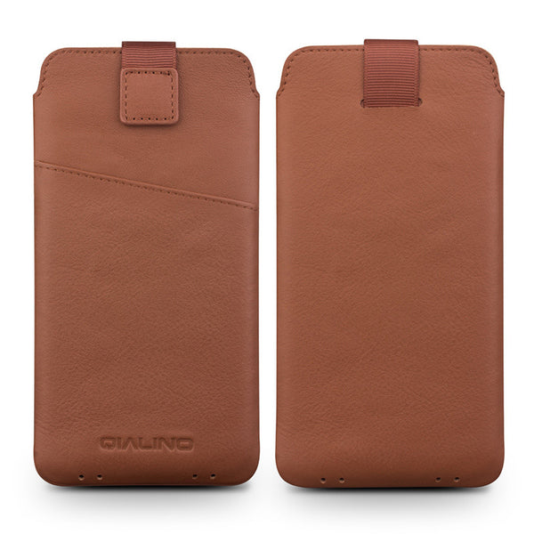 Samsung Galaxy S7, S7 Edge Pure Handmade Genuine Leather Card Slot Thin Pouch Cover