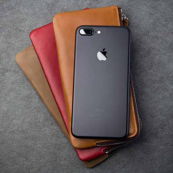 Original iPhone 7 &  7 Plus Handmade Genuine Leather Wallet Cover Case