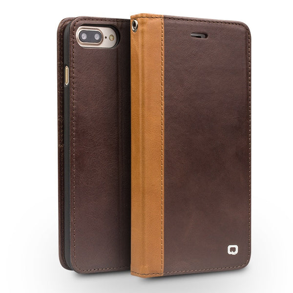 Apple iPhone 7, 7 Plus Genuine Leather Back Cover case