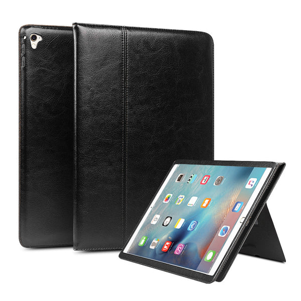 iPad Pro 12.9 Genuine Leather Flip Fashion Pattern Stents Dormancy Stand Cover Case