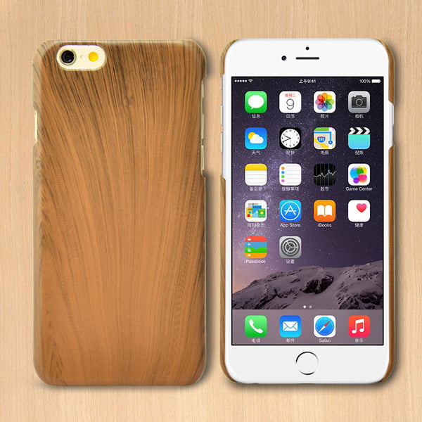 Retro iPhone 6, 6 Plus Original Wood Bamboo Hard Case