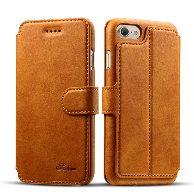 iPhone 7, iPhone 7 Plus Super Quality Business Leather Wallet Flip ...