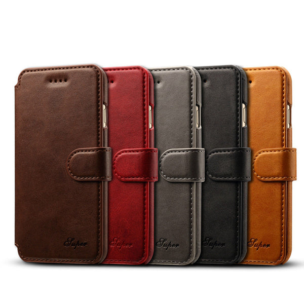 iPhone 7, iPhone 7 Plus Super Quality Business Leather Wallet Flip Case