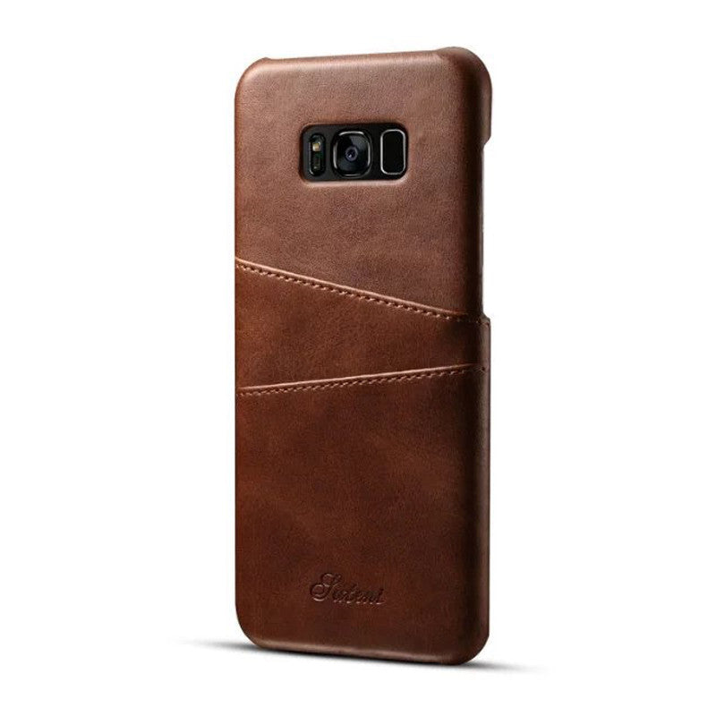 the best attitude 68d22 ba014 Galaxy S8, S8 Plus Card Holder Leather Case