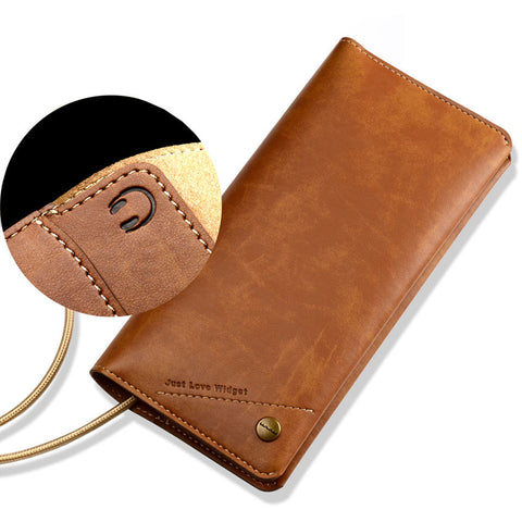 Original iPhone 7 &  7 Plus Handmade Genuine Leather Universal Wallet Cover Case