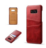 Galaxy S8, S8 Plus Card Holder Leather Case