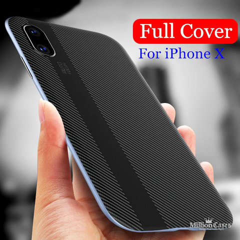 Original Hard Edge Silicone Back Case for iPhone X