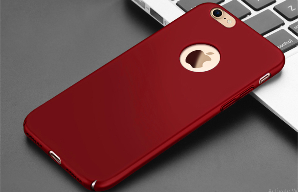 check out 6f7a0 e8cf8 New RED iPhone 7, 7 Plus Ultra thin Hard Plastic Cover