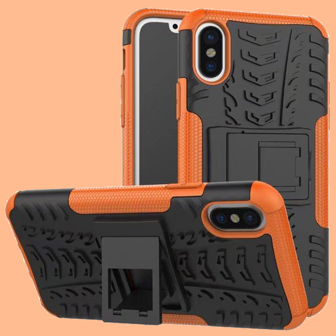 Rugged Armor Hybrid Kickstand Case for Apple iPhone X