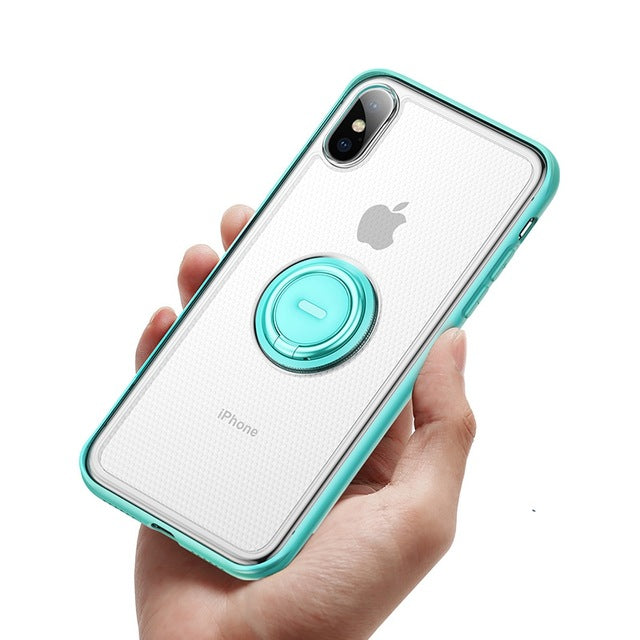Baseus Ring Holder Stand Matte Case For iPhone XS Max