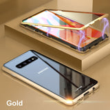 Electronic Auto-Fit Magnetic Glass Case for Galaxy S10/ S10 Plus