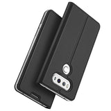 Luxury Leather Card Holder Stand Flip Case for LG G6