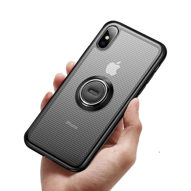 Baseus Ring Holder Stand Matte Case For iPhone XS