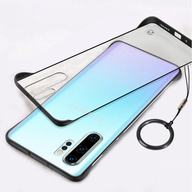 Frameless Transparent Metal Ring Case for Galaxy Note 10 / Note 10 Plus