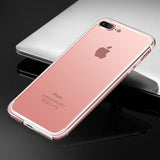 Apple iPhone 7 Plus Bumper Back Cover Case Luxury Hybrid Aluminium Metal Frame + Soft Silicone Side