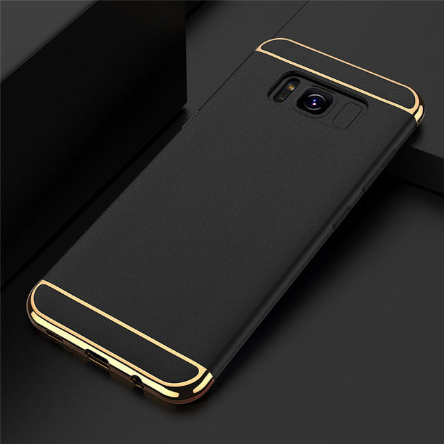 Luxury Matte 3 in 1 Phone Case for Samsung Galaxy
