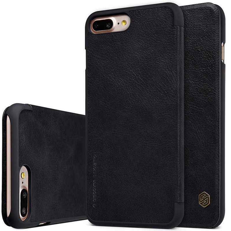 Qin Series Genuine Leather Wallet Flip Cover Case for iPhone 7, iPhone 7 Plus