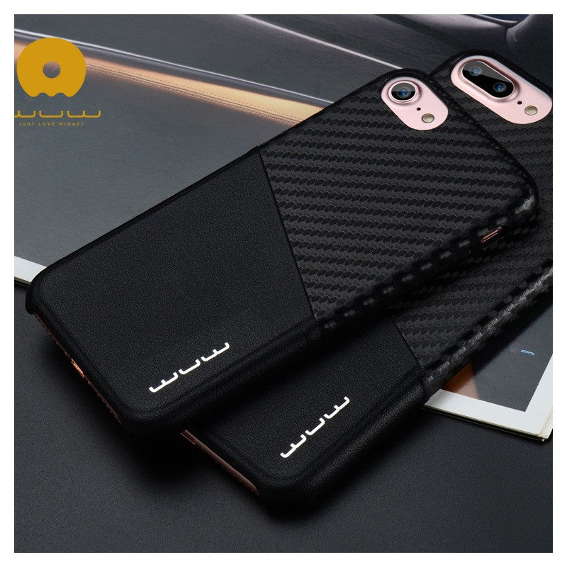 Original iPhone 7 Carbon Fiber Texture PU Leather Coated Hard Case