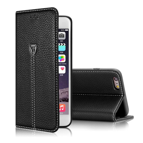 Apple iPhone 5, 5S, SE, 6, 6S, 6S Plus Luxury Leather Flip Cases