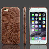 Luxury Crocodile Snake Print Leather Case for iPhone 7/7 Plus, 6/6 Plus, 6S/ 6S Plus & 5/5S/SE