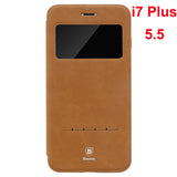 iPhone 7 / 7 Plus Ultra Thin Smart Sleep Phone Terse Window Flip Leather Case