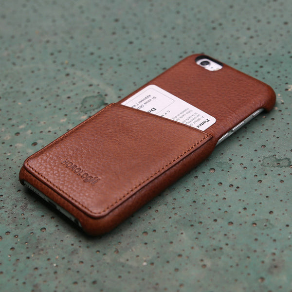 Luxury Retro Italian Full Grain Leather Case for iPhone 7 & 7 Plus with Card Slots