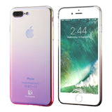 iPhone 7, 7 Plus Blue Ray Luxury Aurora Gradient Color Transparent Case