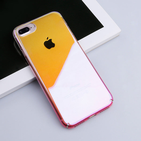 iPhone 7, 7 Plus Original Luxury Aurora Gradient Color Transparent Case