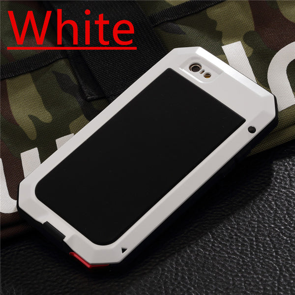iPhone 6/6 Plus, 6S/6S Plus, 7/7 Plus Luxury Doom Metal Armor Life Waterproof, Shockproof Aluminium Case